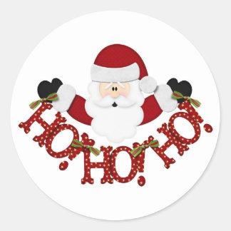 santa Ho Ho Ho Ronde Sticker