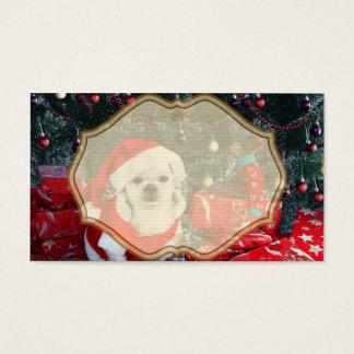Santa van de poedel - Kerstmishond - de hond van Visitekaartjes