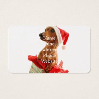 Santa van de tekkel - santahond - hondgiften visitekaartjes