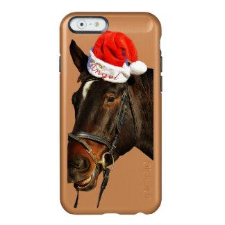 Santa van het paard - Kerstmispaard - vrolijke Incipio Feather® Shine iPhone 6 Hoesje