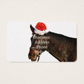 Santa van het paard - Kerstmispaard - vrolijke Visitekaartjes