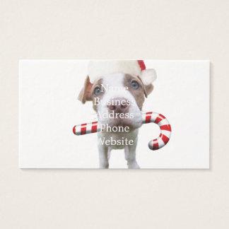 SantaClaus van Kerstmis pitbull - santa pitbull - Visitekaartjes