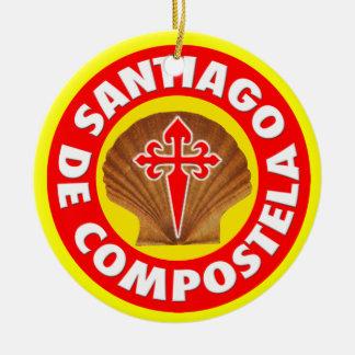 Santiago DE Compostela Rond Keramisch Ornament