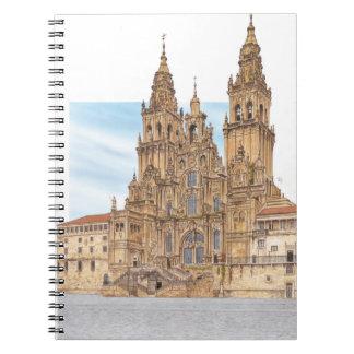 Santiago DE Compostela. Westerne voorgevel. Spanje Ringband Notitieboek