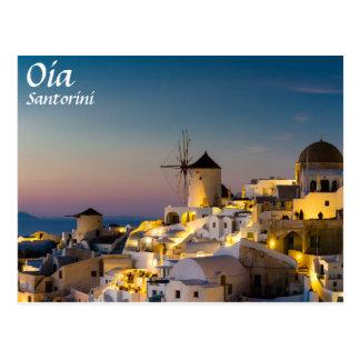 Santorini - Cityscape van Oia bij Briefkaart