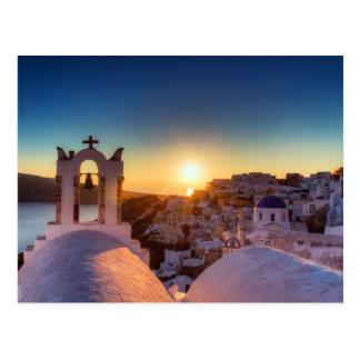Santorini - Cycladic Oia bij Briefkaart