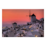 Santorini, Griekenland Afdruk