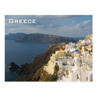 Santorini in de Zon van de Middag Briefkaart