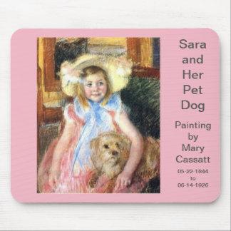 Sara met de Hond van het Huisdier door Mary Muismatten