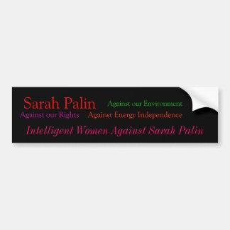 Sarah Palin, tegen onze Rechten, tegen onze Engels Bumpersticker