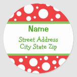 Sassy Etiketten van het Adres van Kerstmis van het Ronde Stickers