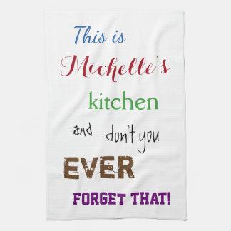 Sassy Typografische Handdoek van de Keuken van de