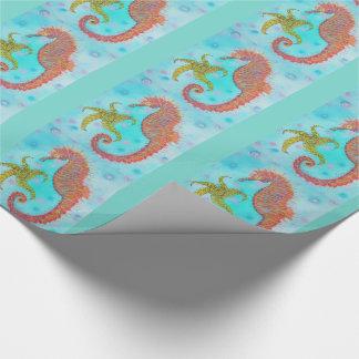 Sassy Zeepaardje Inpakpapier
