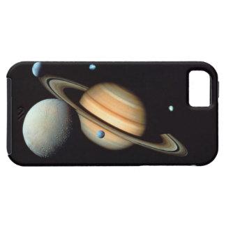 Saturn en satellieten tough iPhone 5 hoesje