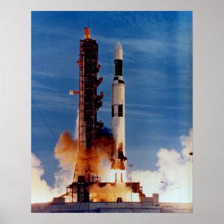 Saturn V die het Ruimtestation van het Skylab lanc Poster
