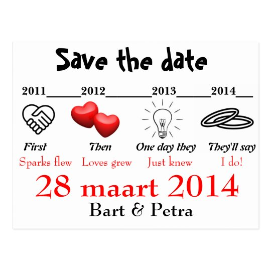 Save the date briefkaart