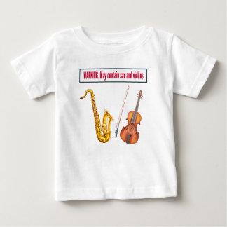 saxofoon en violen baby t shirts