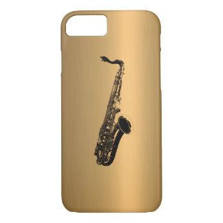 Saxofoon op het Effect van het Koper van het Brons iPhone 8/7 Hoesje