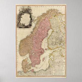 Scandia, Scandinavië Poster