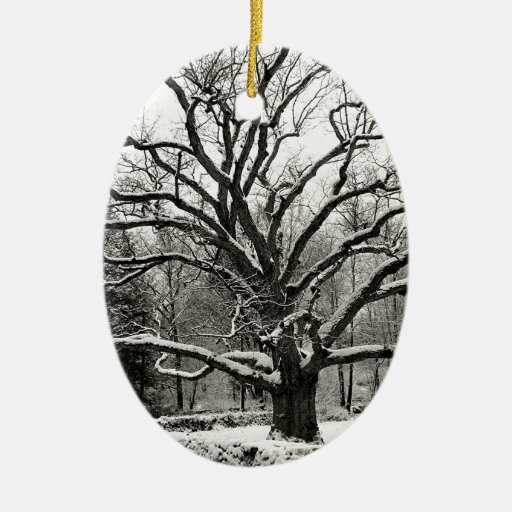 Scène Bedford Eiken New York Kerst Ornament