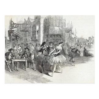 Scène van het nieuwe Ballet van de 'Kwispelingen Briefkaart