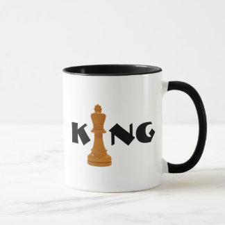 schaak koning mok