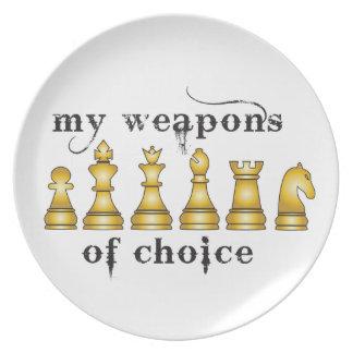 schaak, mijn wapen van keus bord