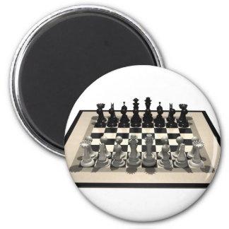 Schaakbord en Schaakstukken: Ronde Magneet 5,7 Cm
