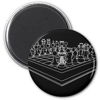 Schaakbord & Schaakstukken: Ronde Magneet 5,7 Cm