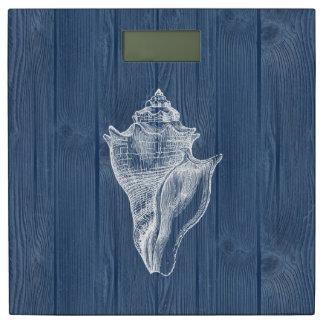 Schaal van Shell van het zee de Witte Vintage Personenweegschaal