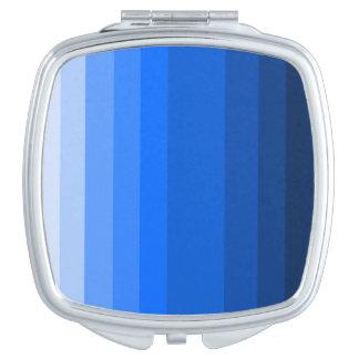 Schaduwen van Blauwe Vierkante Compacte Spiegel Makeup Spiegeltjes