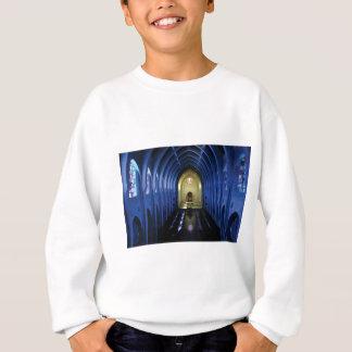 schaduwen van de donkerblauwe kerk trui