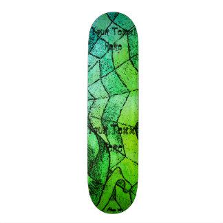 schaduwen van het groene abstracte retro art. van 19,7 cm skateboard deck
