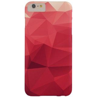 Schaduwen van het Rode Driehoekige Geometrische Barely There iPhone 6 Plus Hoesje