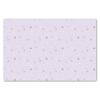 schaduwen van paars stippapieren zakdoekje tissuepapier