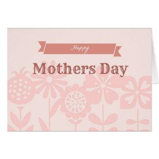 Schaduwen van Roze moederdag Briefkaarten 0