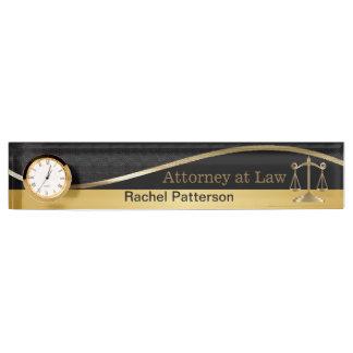 Schalen van Rechtvaardigheid | Advocaat | Naambord