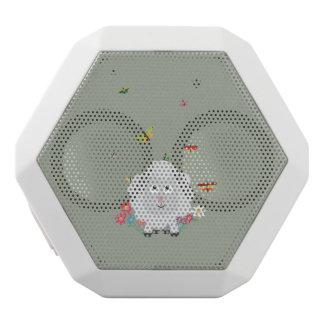 Schapen met bloemen en vlinders Z1mk7 Witte Bluetooth Speaker