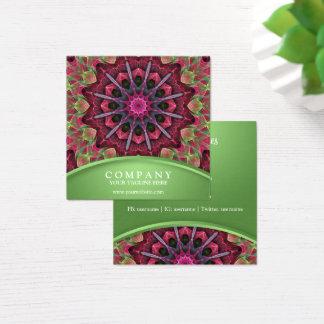 Scharlaken Kant Starburst Mandala Vierkante Visitekaartjes