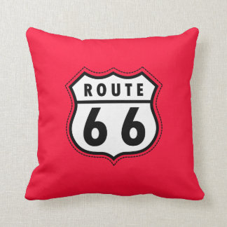 Scharlaken Rode Route 66 verkeersteken Sierkussen