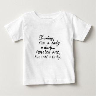 schat ik een dame donker verdraaid één ben baby t shirts