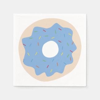 Schattige (Blauwe) Doughnut Wegwerp Servet