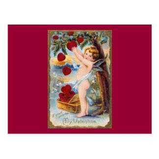 Schattige Cupido Valentijn - Wijnoogst! Briefkaart