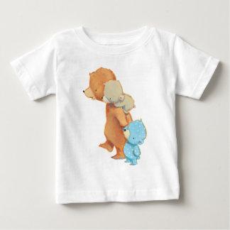 Schattige drie dragen Vrienden Baby T Shirts