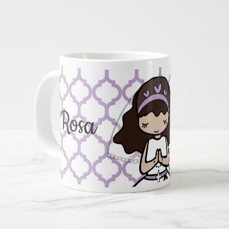 Schattige Eerste het meisjemok van de Heilige Grote Koffiekop