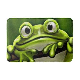 Schattige Grappige Leuke Groene Kikker in Boom Badmat