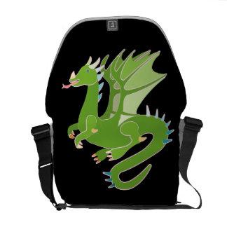Schattige Groene Draak Courier Bag