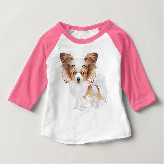 Schattige het 3-4-sleeve van de Kleding Papillon Baby T Shirts