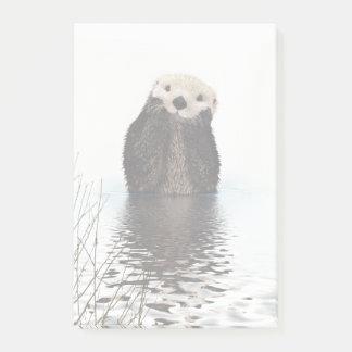 Schattige het Glimlachen Otter in Meer Post-it® Notes