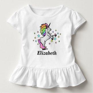 Schattige Naam, Regenboog en Eenhoorn Kinder Shirts
